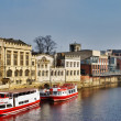 Ferry Boats On River Ouse, York — Stock Photo