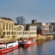 Ferry Boats On River Ouse, York — Stock Photo #9835354