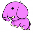 Cute pink elephant — Stock Photo