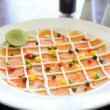Smoked salmon with lime - Stock Photo