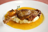 Duck confit , Roasted duck leg — Stock Photo