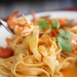 Seafood pasta with tomato sauce — Stock Photo #10245505