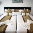 Stock Photo: Bed in hotel room