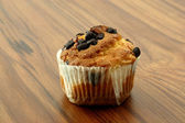 Cup Cake in wood background — Stock Photo