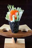 Cone de sushi — Fotografia Stock