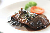 Duck confit , Roasted duck with blueberry sauce — Stockfoto
