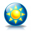 Sun Glossy icon — Stock Photo