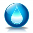 Water drop glossy icon — Stock Photo #10042809