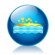Isle glossy icon — Stock Photo
