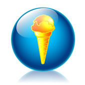 Ice cream glossy icon — Stock Photo