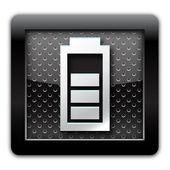 Battery metal icon — Stock Photo