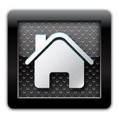 Home metal icon — Stock Photo