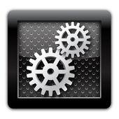 Gear metal icon — Stock Photo