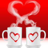 Copas de amor — Foto de Stock