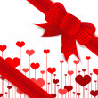 Royalty-Free Stock Photo: Valentine\'s day present with red bow