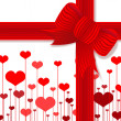 Stock Photo: Valentine's day present with red bow
