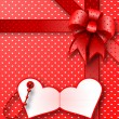 Red gift bow card note — Stock Photo #8602671