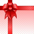 Cтоковый вектор: Red gift bow card note vector