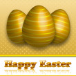 Happy Easter Greeting Card — Stock Vector #9085498