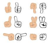 Vector hand gestures — Stock Vector