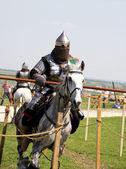 Riding knight — Stock Photo