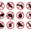 Stock Vector: Stop pests