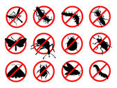 Stop pests — Vector de stock