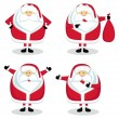 Santa in different positions. Set #2 — Stock Vector