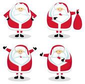 圣诞老人在不同的位置。设置 #2 — 图库矢量图片