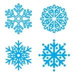 Постер, плакат: Symbol snowflakes Vector