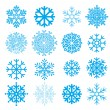Stock Vector: Snowflakes collection