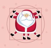 Vitruvian Santa — Stock Vector
