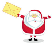 Santa with mail — Stock Vector