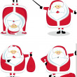 Santa in different positions. Set#3 — Imagen vectorial