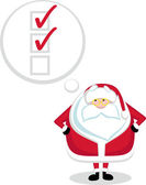 Santa to-do list — Stock Vector