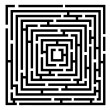 Stock Vector: Vector black maze