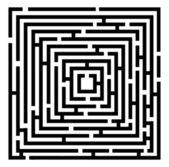 Vector black maze — Stock Vector