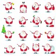 Royalty-Free Stock Vector Image: Santa in different positions