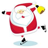 Santa skating — Stock Vector
