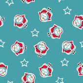 サンタとのシームレスなパターン — ストックベクタ