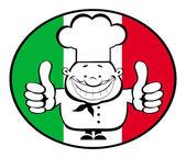 Happy chef logo — Stock Vector