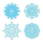 雪の結晶 — ストックベクタ