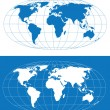 Stock Vector: World map