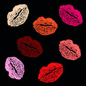 Lips prints — Vettoriale Stock