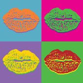Pop art lips — Stock Vector