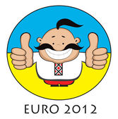 Happy Ukrainian. Euro 2012 design — Stock Vector
