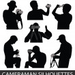 Silhouettes of taking pictures — Stock Vector #9850179