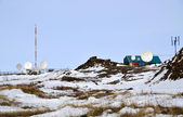 Cell site somewhere in Arctic — Stock Photo