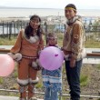 Chukchi family — Stock Photo