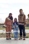 Chukchi family — Stock Photo